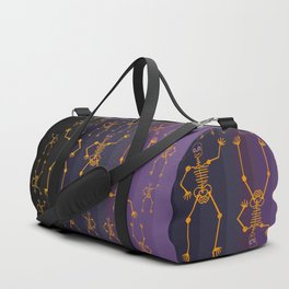 Halloween Skeleton Orange Duffle Bag