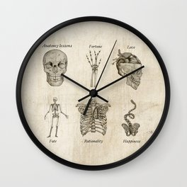 Anatomy lessons Wall Clock