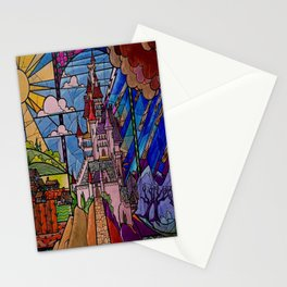 Castle Stained Glass Stationery Cards