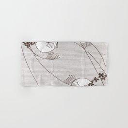 Two Moons Stencil,19th century Japan Hand & Bath Towel