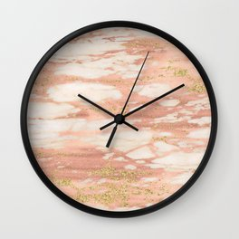 Sorano rose gold marble Wall Clock