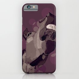 Funny horse portrait iPhone Case