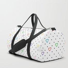 Candy Heart Spots Duffle Bag