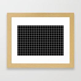 Windowpane Black Framed Art Print