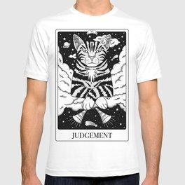 Judgement Tarot Card as a Judgemental Cat  T-shirt