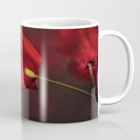 poppies Mugs featuring Poppies by Ellen van Deelen