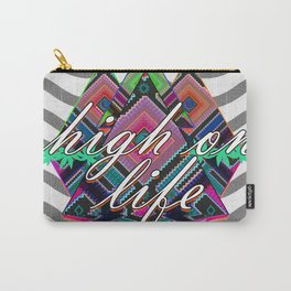 High on Life & Festival Vibes Tribal Pattern Carry-All Pouch