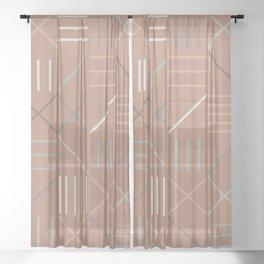 Geometric Shapes 07 Sheer Curtain