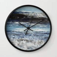 Blue 'tilt' wake Wall Clock