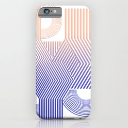 Minimal geometric stripes modern iPhone Case