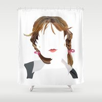 britney spears Shower Curtains featuring Britney by Bethany Mallick