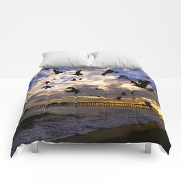 Sunset For The Birds Comforters