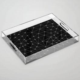 African Triangle Black Acrylic Tray