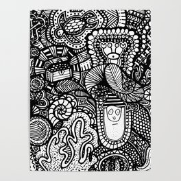 Under the Sea Doodle Poster