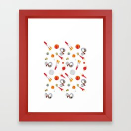Snoopy Space Framed Art Print