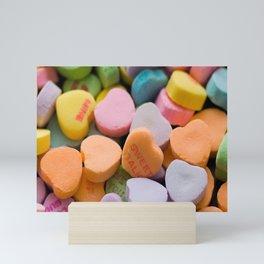 Sweet Sugar Candy Hearts Mini Art Print
