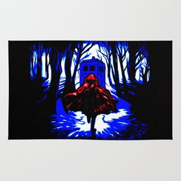 Shadow Light Of Tardis Rug