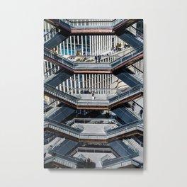 Vessel New York City |  Hudson Yards Vessel, Manhattan, USA | Photo Print | pastel - travel - photography - architecture - Art print Metal Print