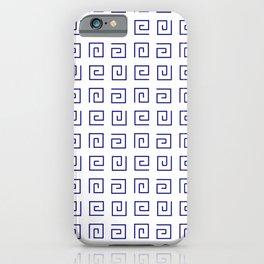 Antic pattern 21- roman or greek pattern - blue iPhone Case