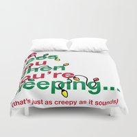 creepy Duvet Covers featuring Creepy by fishbiscuit