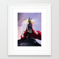 thor Framed Art Prints featuring Thor  by Bern
