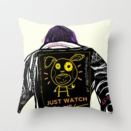 Just watch me Throw Pillow