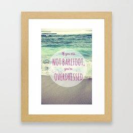 Barefoot Summer Framed Art Print