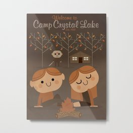 welcome to camp crystal lake Metal Print