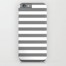 Horizontal Stripes (Gray/White) Slim Case iPhone 6s