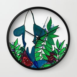 Oh Whale Wall Clock