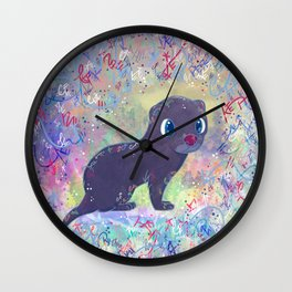 Mini Mink Wall Clock