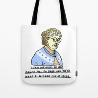 robin williams Tote Bags featuring Robin Williams Tribute  by MeganBell