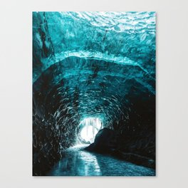 Ice Tunnel (Color) Canvas Print