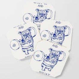 English Bulldog Squat Coaster