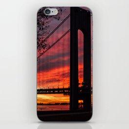 Sunrise at the Bridge iPhone Skin