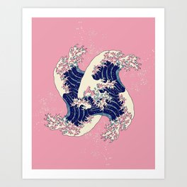 H is for Hokusai //// Great Wave Art Print