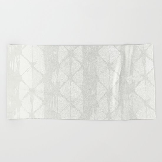 Simply Braided Chevron Lunar Gray Beach Towel