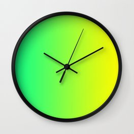 Yellow and Cold-Green Gradient 008 Wall Clock