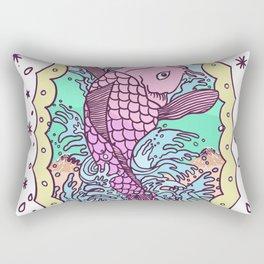 Pink Carp Rectangular Pillow