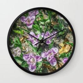 JC FloralArt 04 Wall Clock