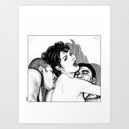 asc 241 - le bonheur ici-bas (a djinn and two new lost souls) Art Print