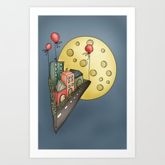 Moon city Art Print