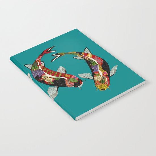 koi teal Notebook