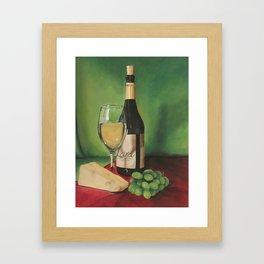 White wine, Still life Framed Art Print
