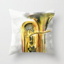 Solo tuba Throw Pillow