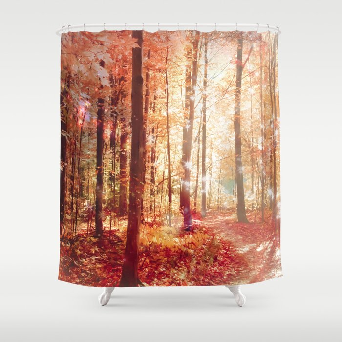 Attirant A Soul On Fire Shower Curtain