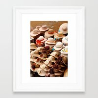 hats Framed Art Prints featuring Hats by Dave Houldershaw