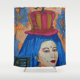 heavy in my mind Shower Curtain