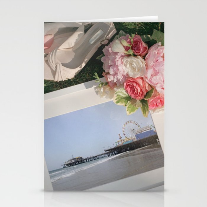 Romantic Santa Monica Pier framed Photo for Wedding or Valentine's Day Stationery Cards by Christine aka stine1