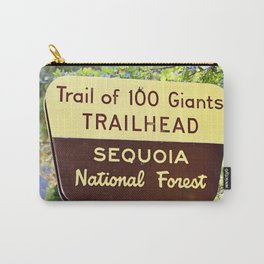 Trail of 100 Giants Vintage National Forest Sign Carry-All Pouch